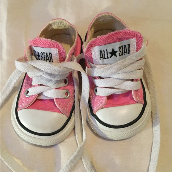 455817de249eed Converse Other - Pink Chucks (toddler size 2)